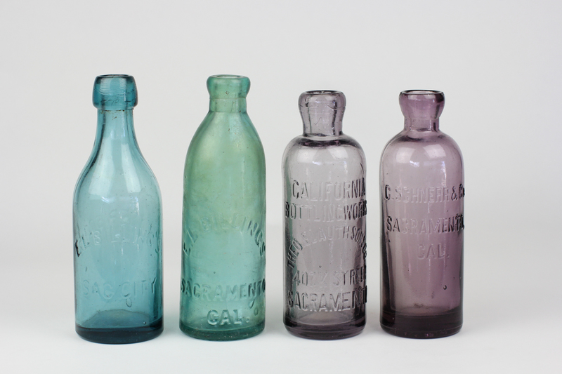 Four Antique Sacramento Bottles