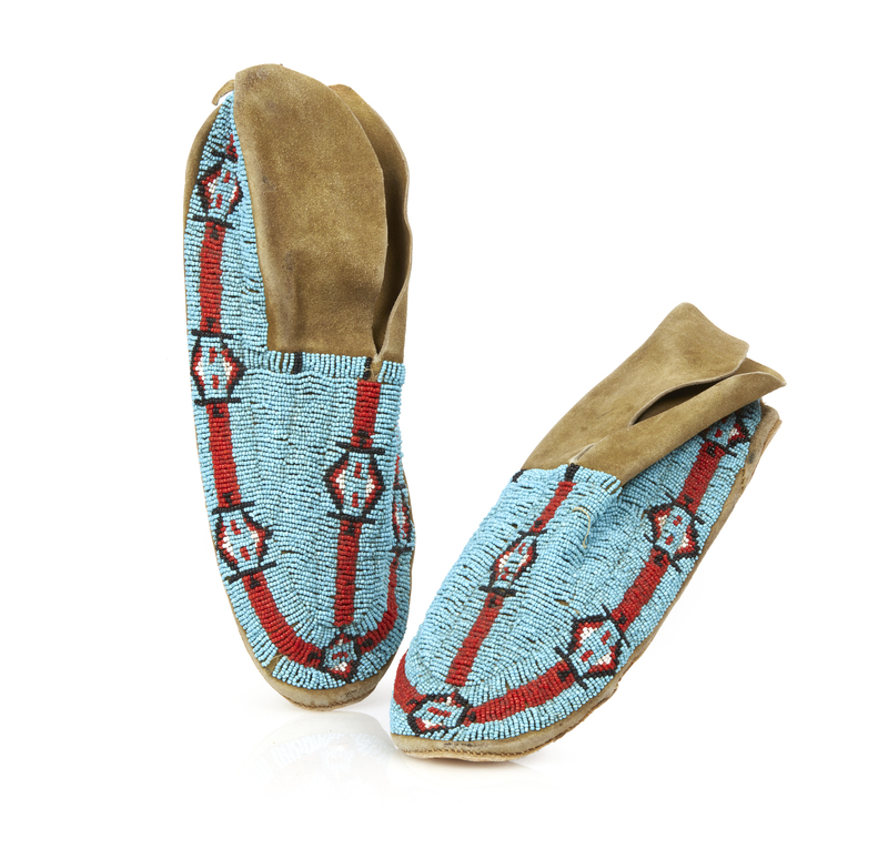 Native American Beaded Moccasins