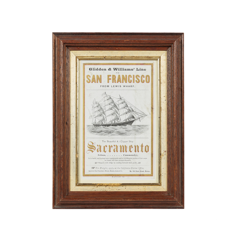 Sacramento A1 Clipper Ship Sailing Card