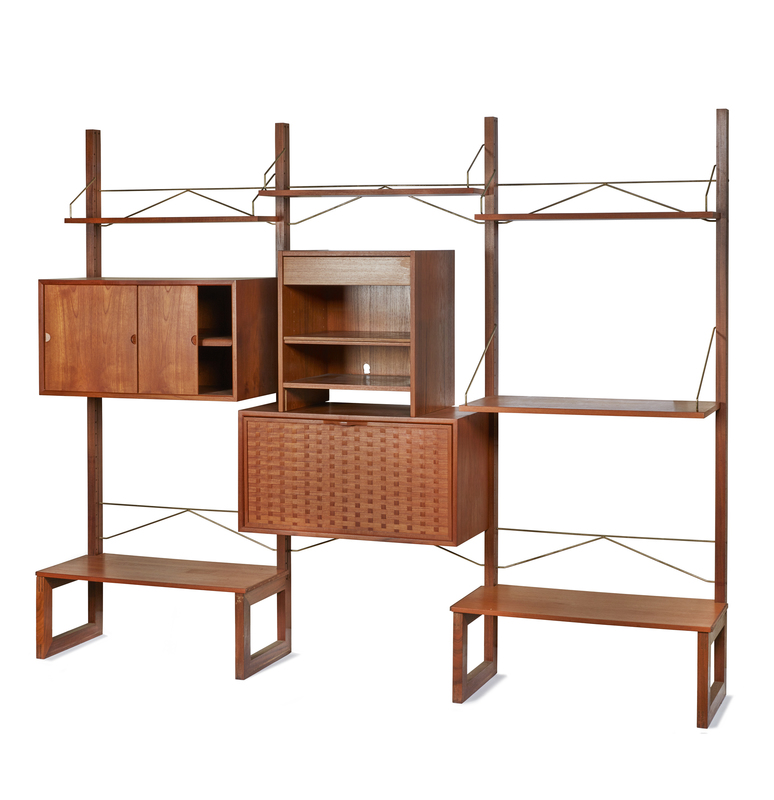 Mid-Century Danish Modern Wall Unit