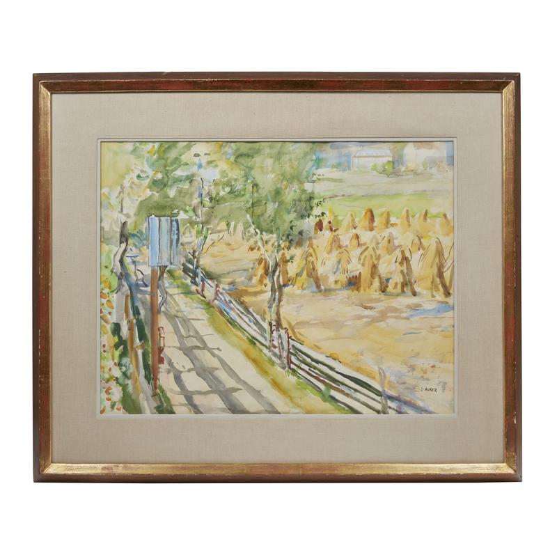 Watercolor Panting, Ernest Huber (1895-1960), Landscape