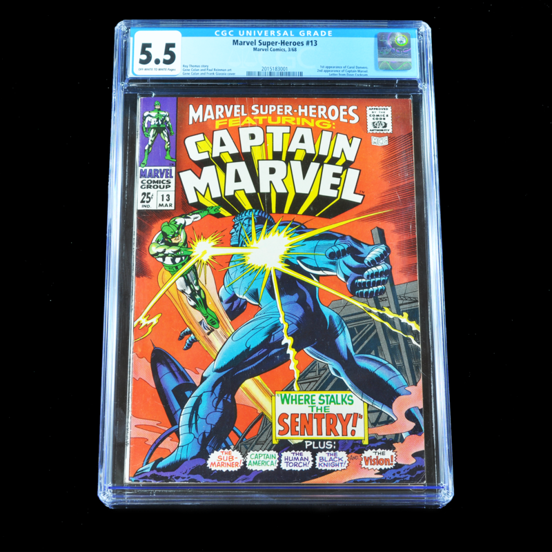 Marvel Superheroes Featuring: Captain Marvel #13, 1968 (First Appearance of Carol Danvers) CGC 5.5