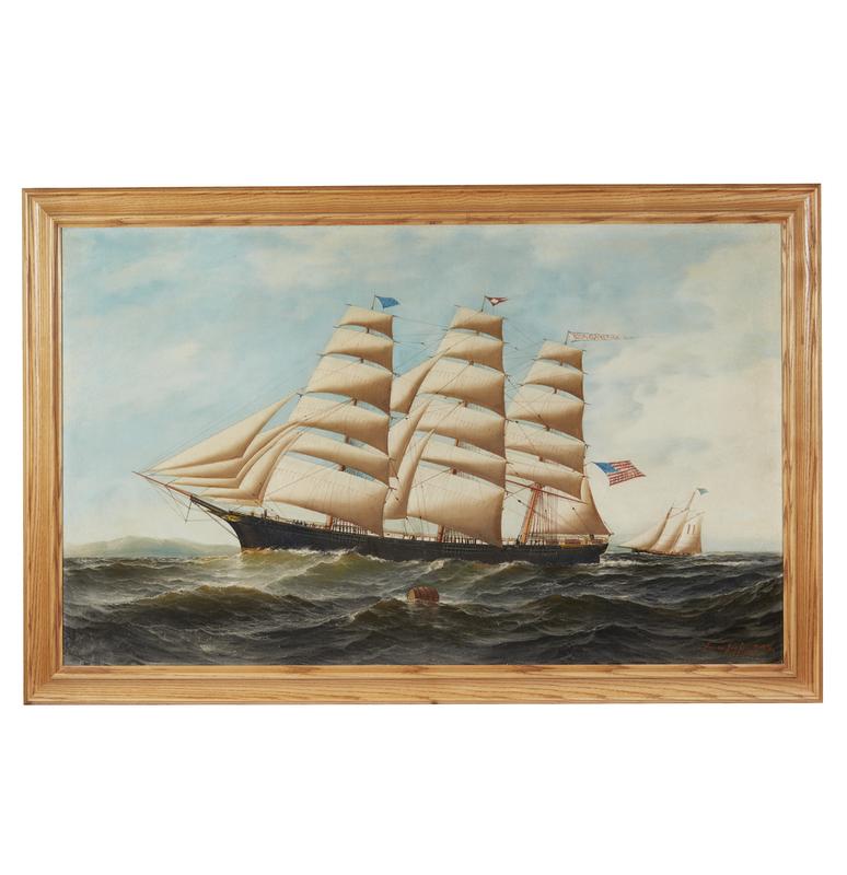 Painting, Antonio Jacobsen (1850-1921),