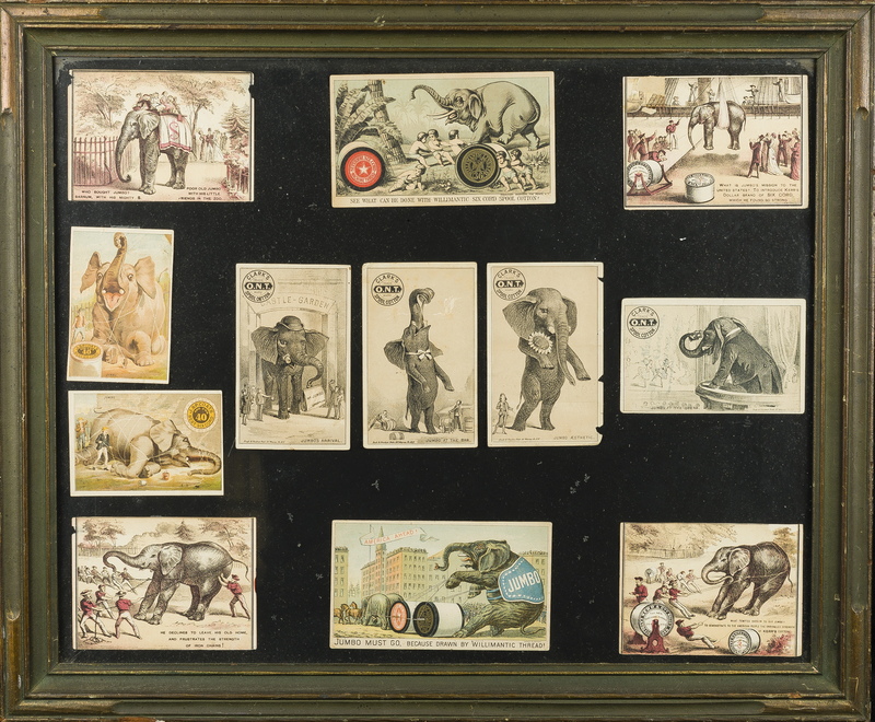 Jumbo Spool Cotton Trade Cards Framed