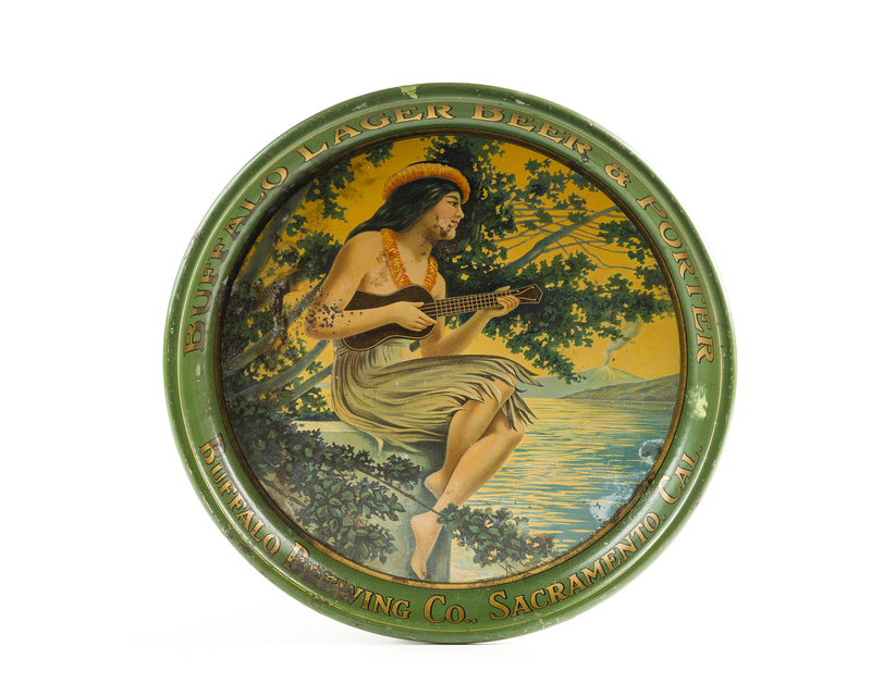Buffalo Lager Hawaiian Girl Serving Tray