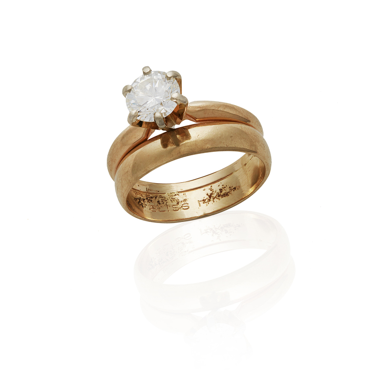 14k Diamond Wedding Set