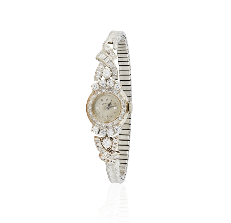 Lady's Hamilton Diamond 14k Watch