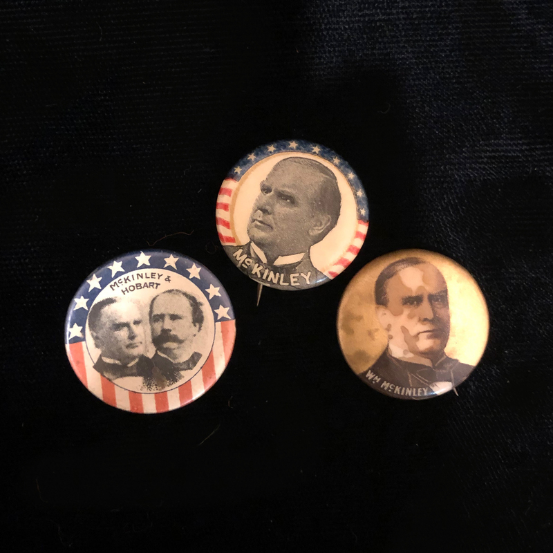 Three McKinley Campaign Buttons
