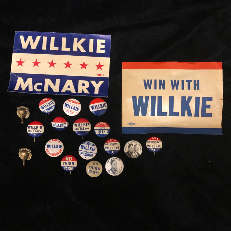 Wilkie and McNary Campaign Memorabilia