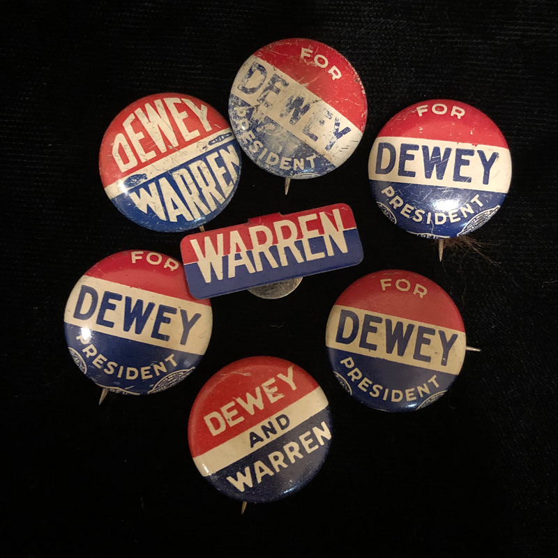 Dewey and Warren Campaign Memorabilia