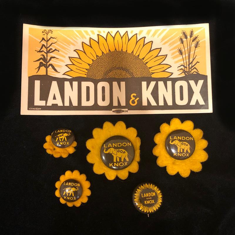Landon and Knox Campaign Memorabilia