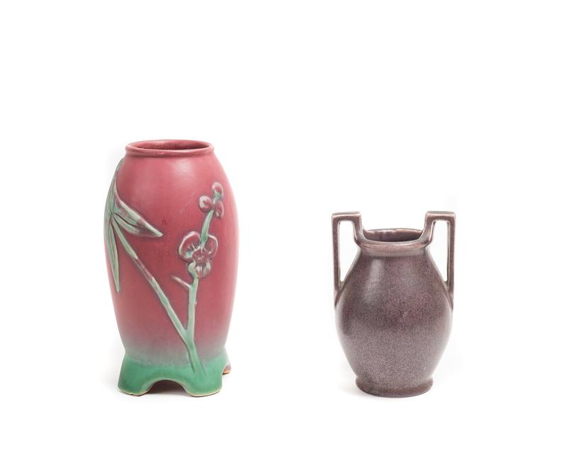 ROOKWOOD Amphora-Shape Vase and WELLER