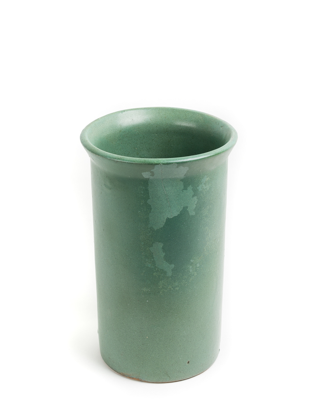 BAUER Matte Green Roleau Vase