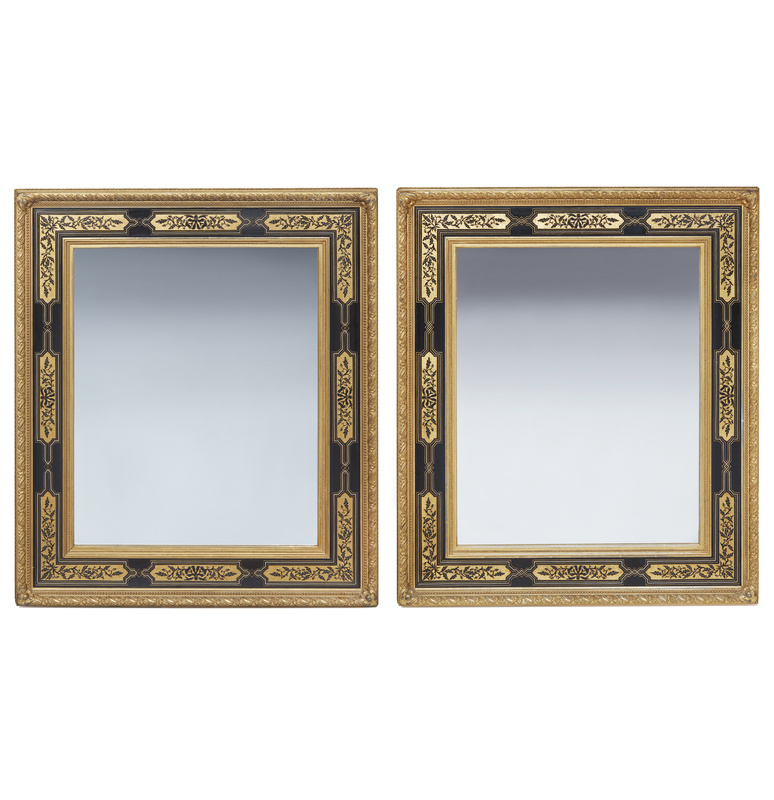 Pair of Aesthetic Movement Gilt Frame Mirrors