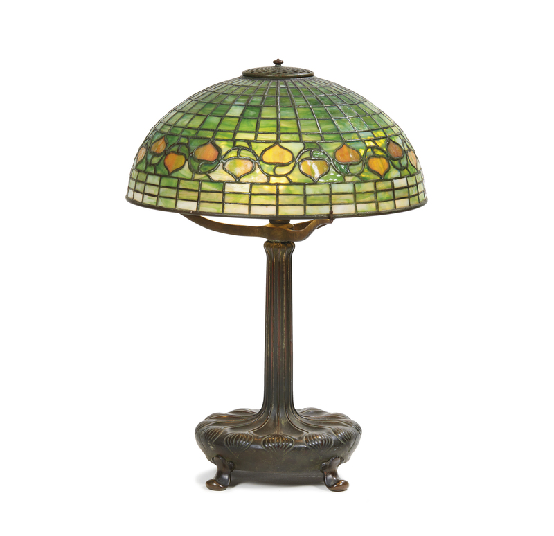 Tiffany Studios Leaf and Vine Leaded Glass Table Lamp