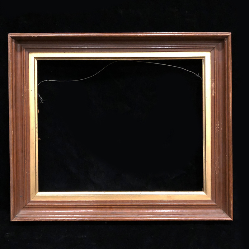 Pair Antique Walnut Frames