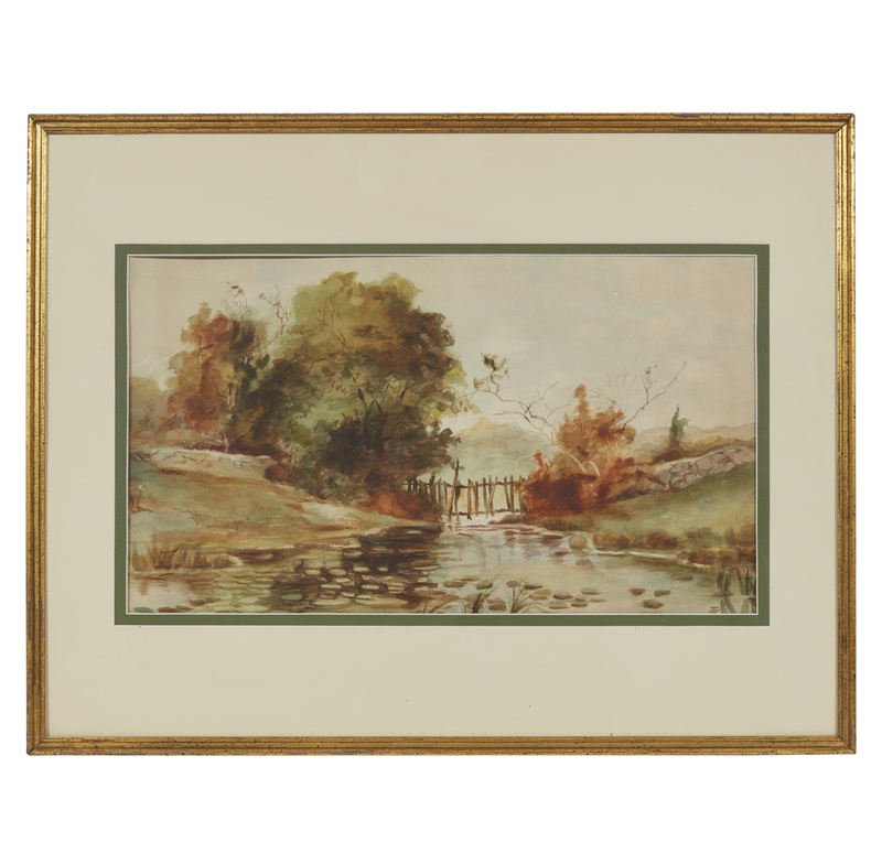 Watercolor Landscape Painting, attrib. Irion Shields (1895-1983)