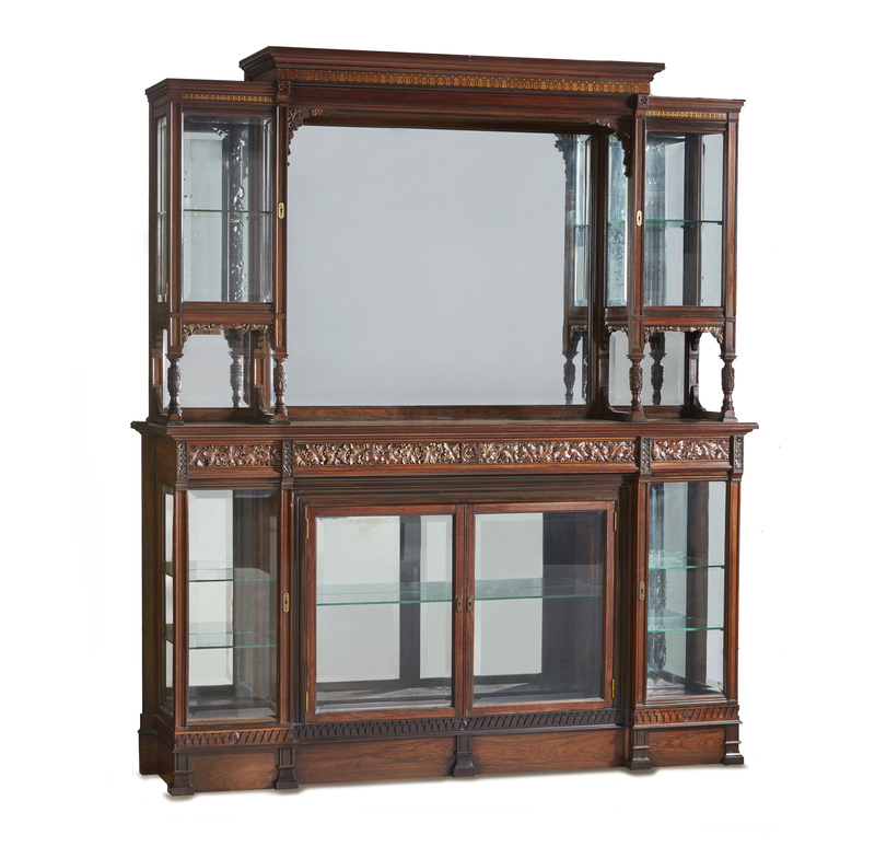 Grand Curio Cabinet Commissioned for Mark Hopkins San Francisco Residence