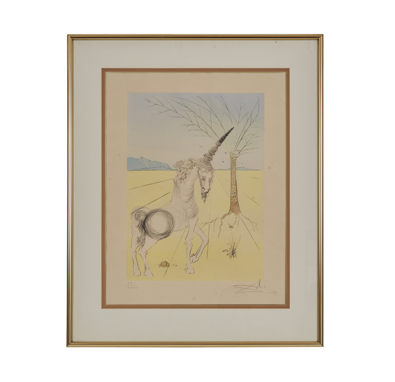 After Salvador Dali, Etching in Color,