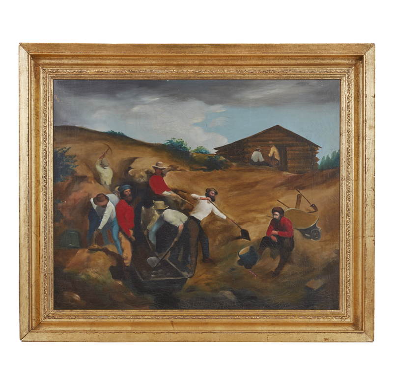 Gold Rush Style Painting
