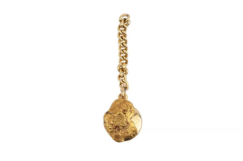 Gold Nugget Tie Tack, 2.2 grams