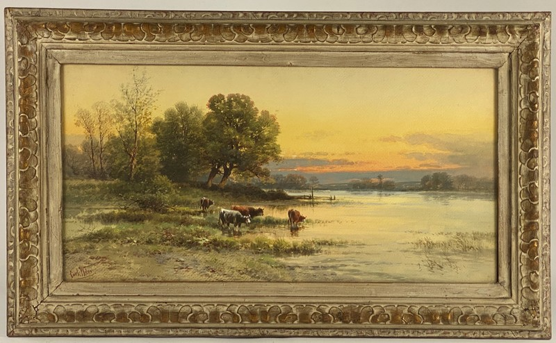Carl Weber (Pennsylvania, 1850-1921), Pastoral Landscape