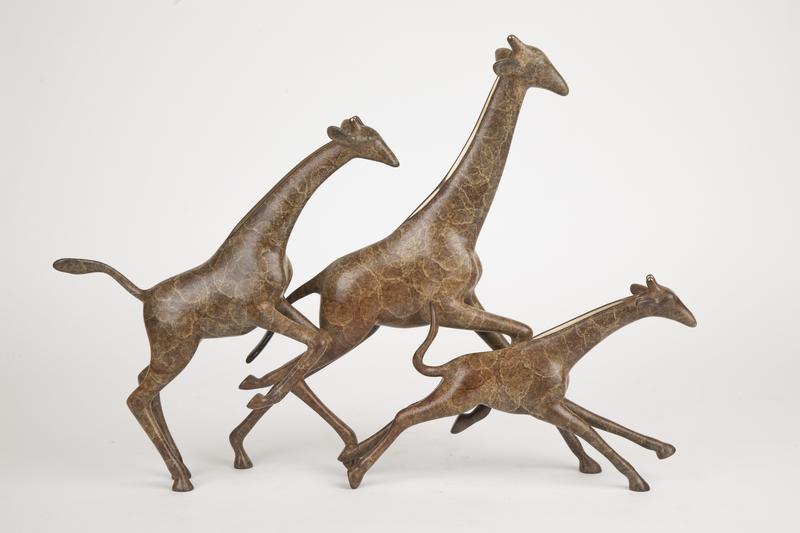 Loet Vanderveen (1921-2015) Bronze, Three Giraffes