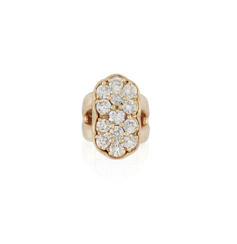 Lady's 14k Diamond Cluster Ring