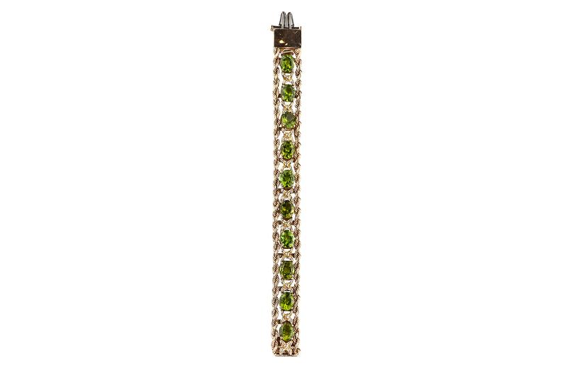 14k Peridot Bracelet