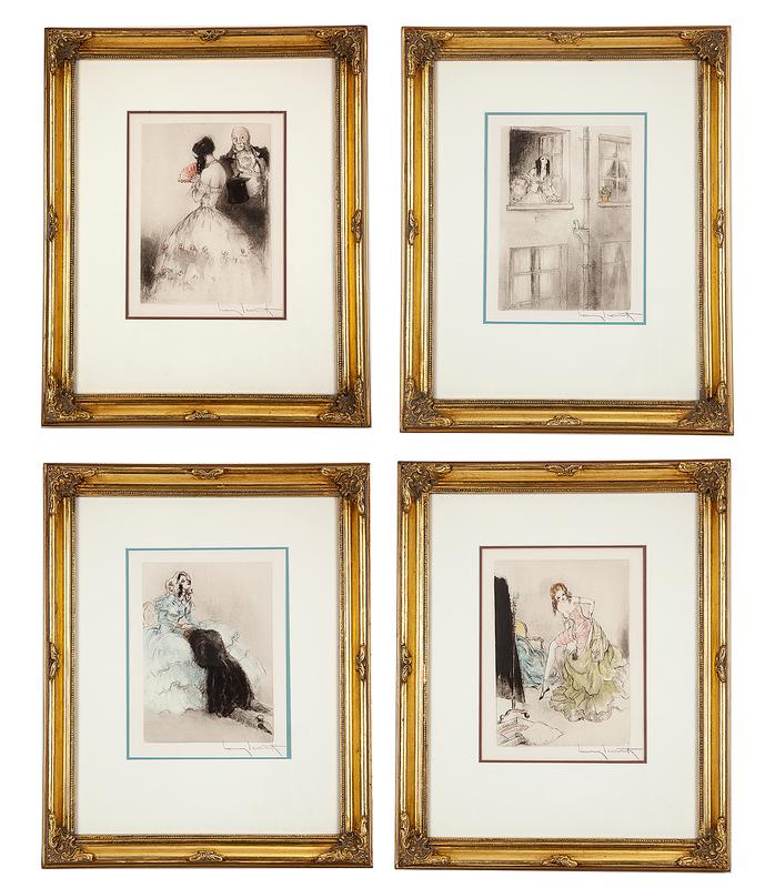 Four Louis Icart (1888-1950) Etchings