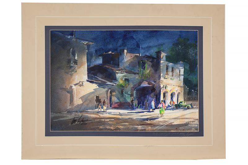 Tom Lynch (b. 1950) Watercolor
