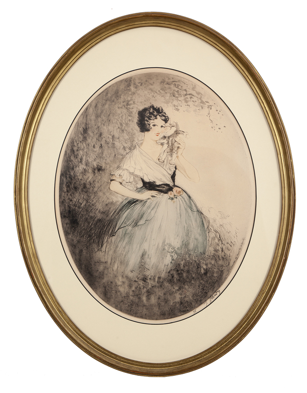Print of a Young Woman