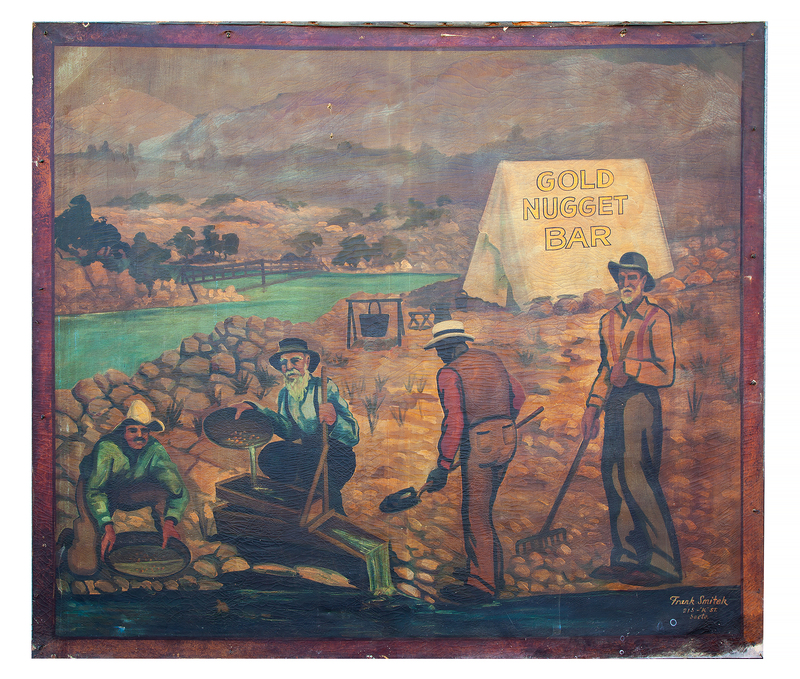 Gold Rush Painting from Old Sacramento Bar