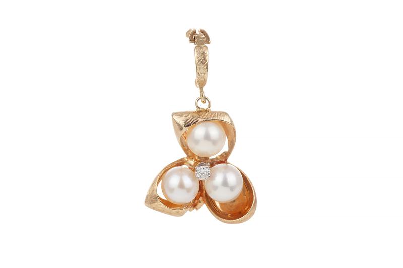 Saltwater Pearl Diamond 14k Pendant