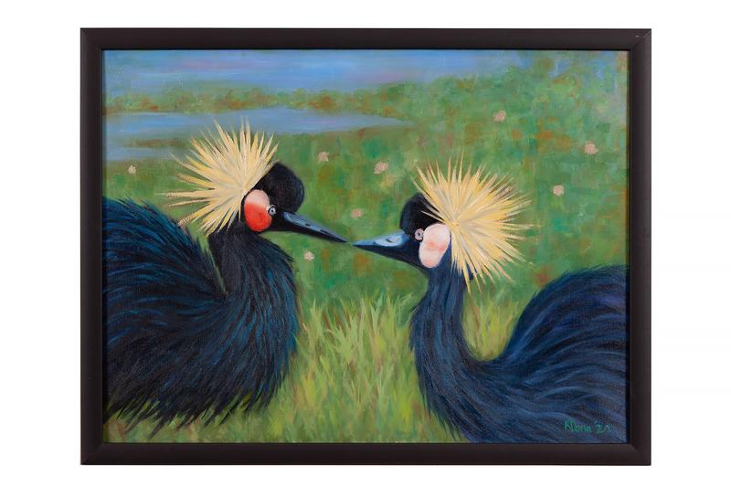 "Kathy Dona Painting, ""Zoo Buddies"""