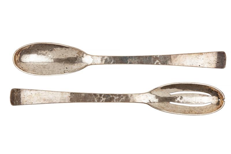 Paval Arts and Crafts Sterling Sliver Serving Spoons, 9.57 troy