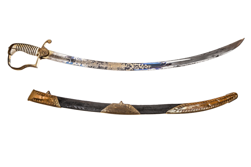British Saber Sword, similar to the 1796 Light Cavalry Saber, by Osborn and Gunby