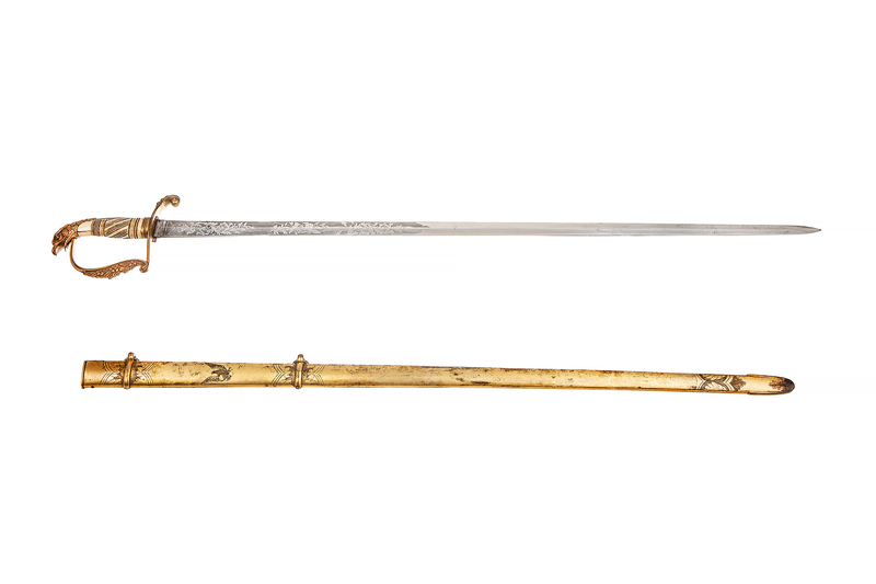 American Eagleheaded Officer's Spadroon Sword Saber