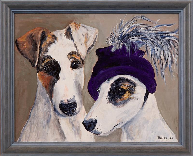 "Bee Souza Painting, ""Darcy & Diva"""
