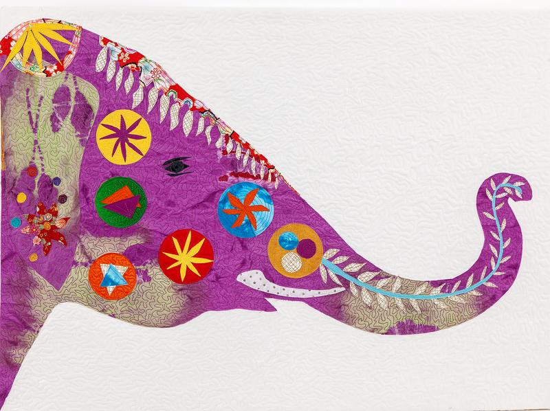 Louise Schiele Fiber Collage,