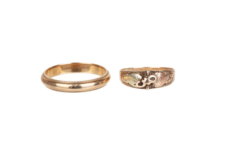 Two 14k Gold Rings, 5.2 grams