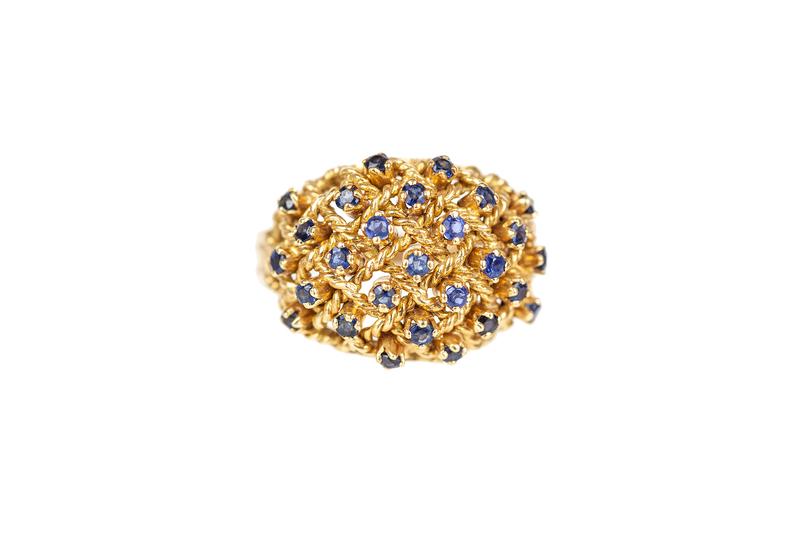 Blue Sapphire 18k  Ring