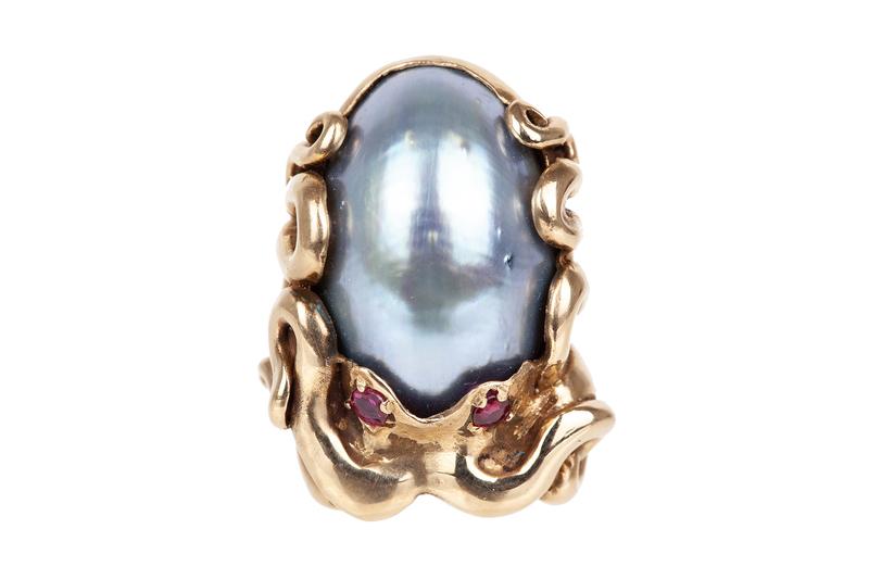 10k Mabe Pearl Ring