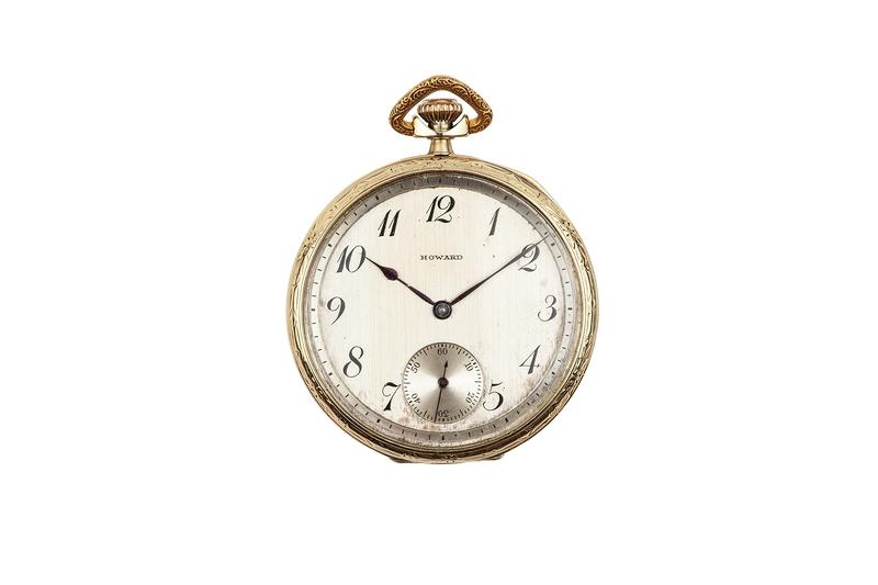 """Howard """"Swing Out"""" 14k Pocket Watch"""