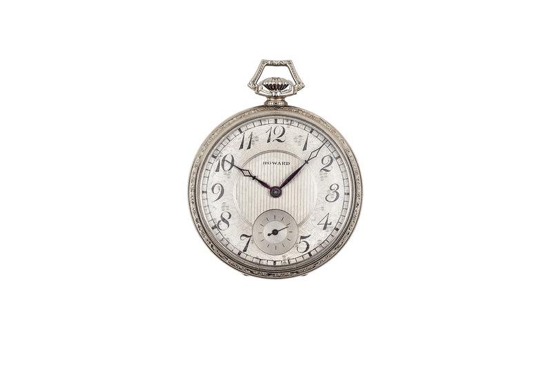 E. Howard 14k White Gold Pocket Watch