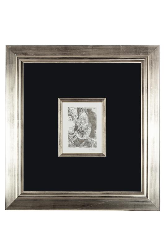 """Pablo Picasso (1881-1973) Etching, """"Portrait-Charge d'un Personnage, en Larmes"""""""