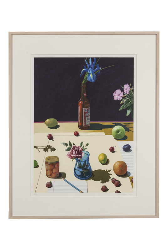 """Paul Wonner (1920-2008) Lithograph """"Still Life With Bud"""" 5/80"""