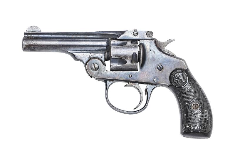 Bill Carlisle's Iver Johnson Revolver, Used in Holdup of Union Pacific Train