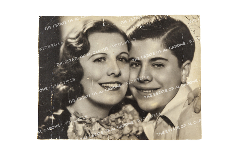 Vintage Autographed Silver Gelatin Photograph of Mae and Alphonse Albert Francis