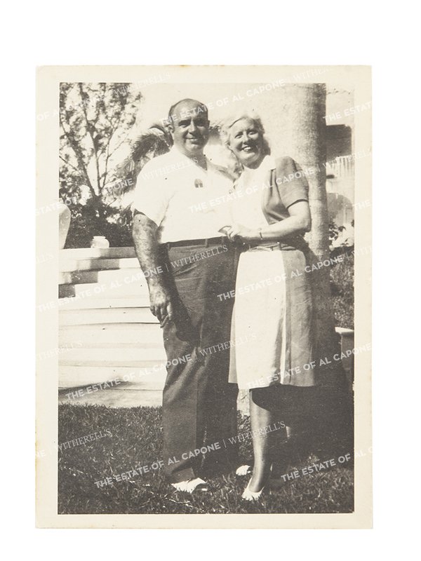 Vintage Silver Gelatin Photograph of Al Capone and Mae Capone